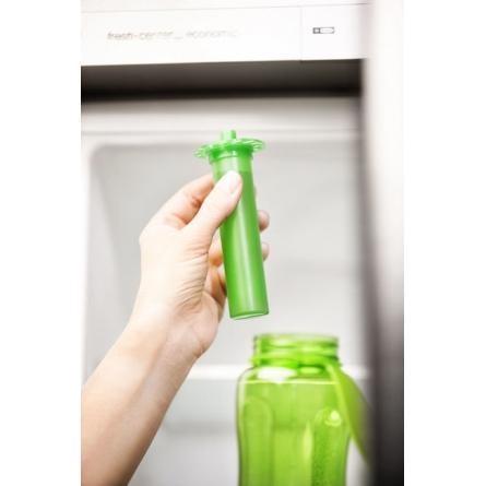 Fresh flaska with iskolv, green