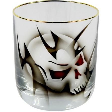 Gold Dödskalle Whiskyglas