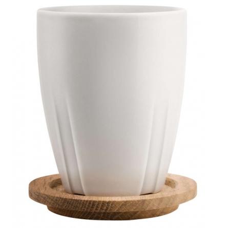 Bruk Gray Mug with Oak lid 35cl, 2-Pack