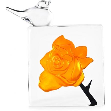 Orange Rose with Bird