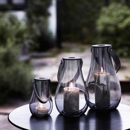 Design With Light Lantern 25 cm, Smoke
