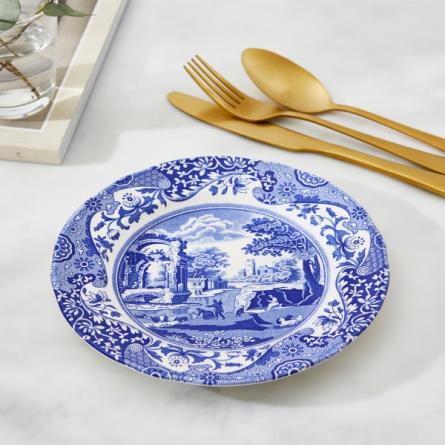 Blue Italian plate 19cm