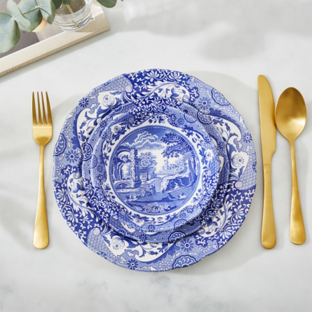 Blue Italian Sopptallrik 23 cm