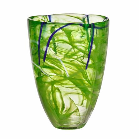 Contrast vase Lime, H 20cm