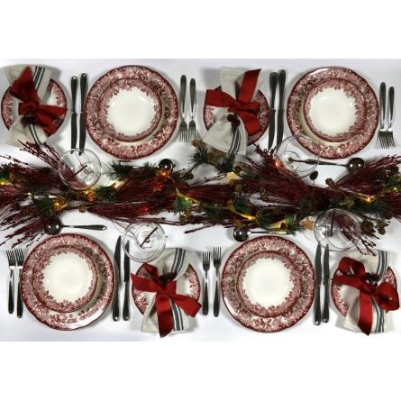 Cranberry Italian Deep Plate 15cm