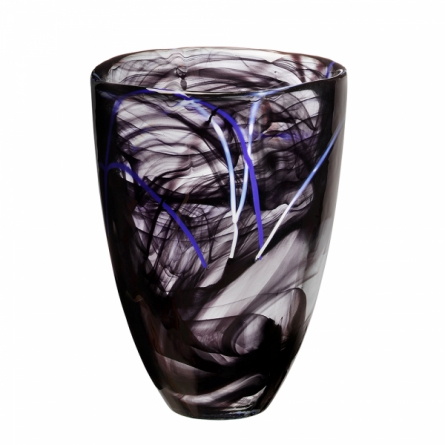 Contrast vase Black, H 20cm