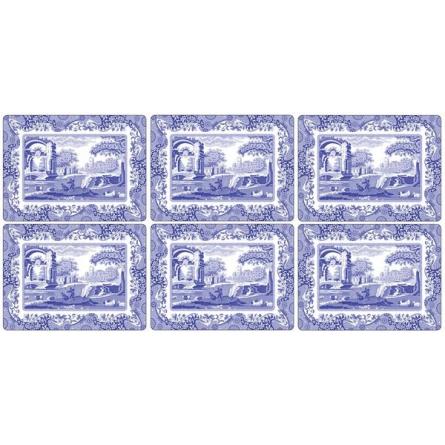 Blue Italian Bordstablett 30,5x23cm 6-pack