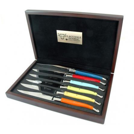 Stekknivar mixade färger Corian/blank rfr x 6