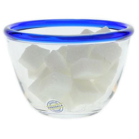 Blue kant Sockerskål, Ø 9,5cm