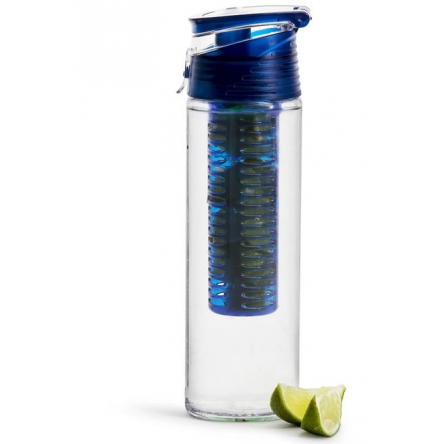 Fresh bottle with fruit piston, blue