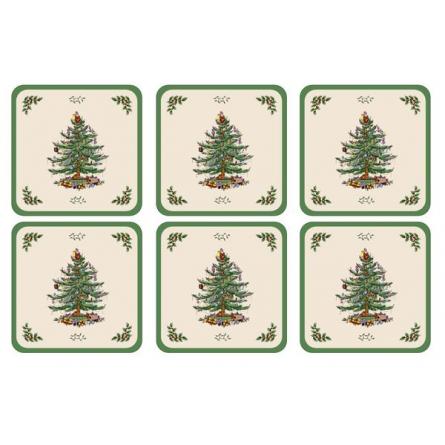 Christmas Tree Coasters 6-pack