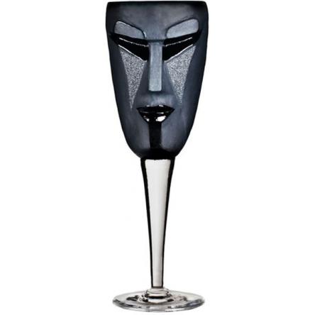 Kubik Wine glass black