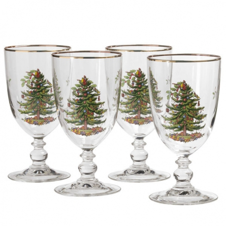 Christmas Tree Goblet 45cl 4-pack