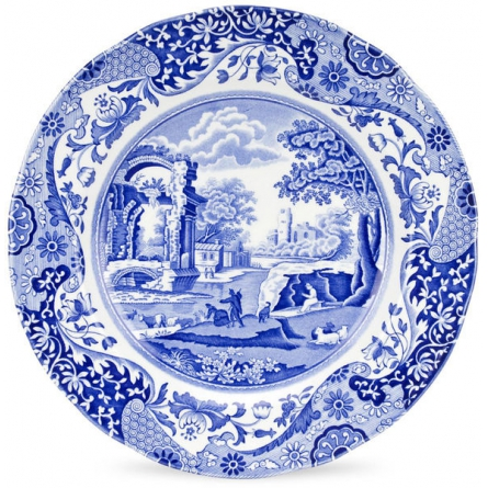Blue Italian tallrik 27cm