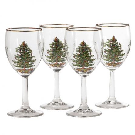 Christmas Tree Vinglas 4-pack