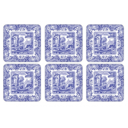 Blue Italian Coasters 6-Pack