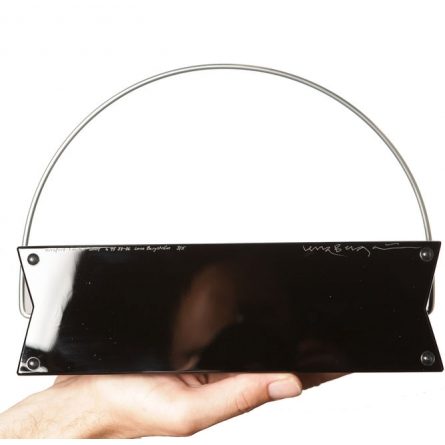 Handbag in glass by Lena Bergström