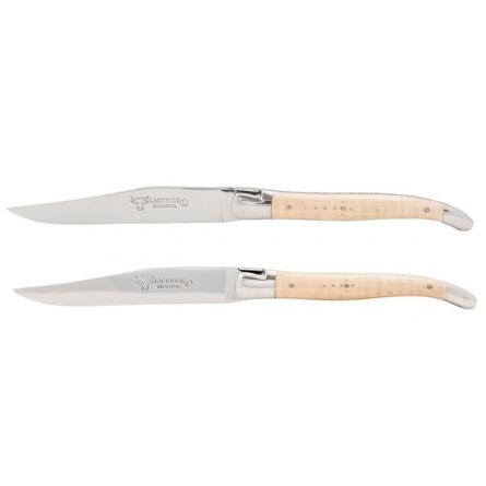 Knivset 2 delar ljus Lönn, rostfri blank