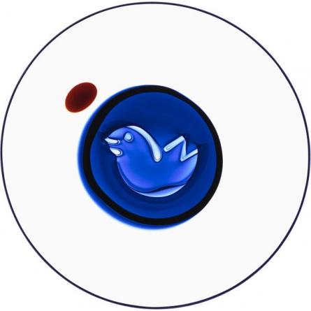 Bubble Bird dish blue Ltd Ed 60 ex