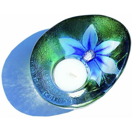 Flora blue votive