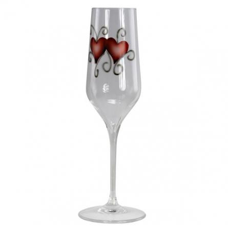 Crystal Ink hjärta Parglas Champagne 2-pack