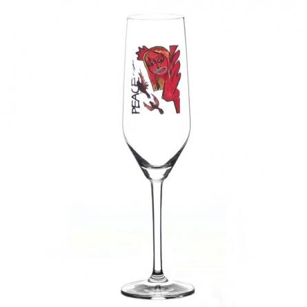 Scream Peace Champagneglas 30cl