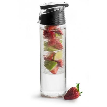 Fresh bottle with fruit piston, black