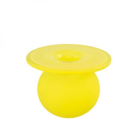 Boblen hjärta Candy vas Yellow Mini