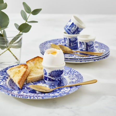 Blue Italian Egg cup 4-pack