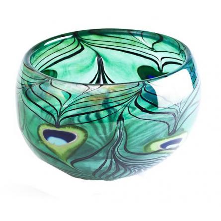Peacock bowl Green