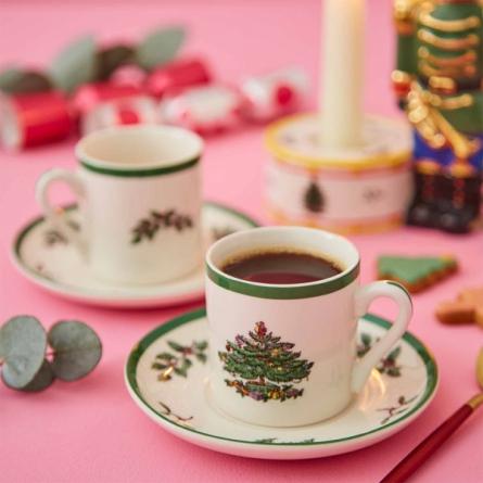 Spode Christmas Espresso 4-pack
