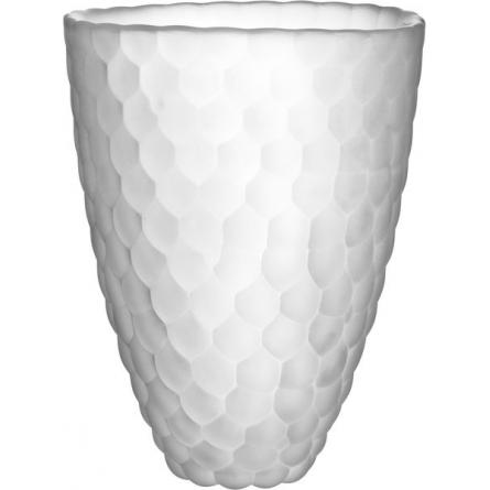 Raspberry Frosted Vase 20cm