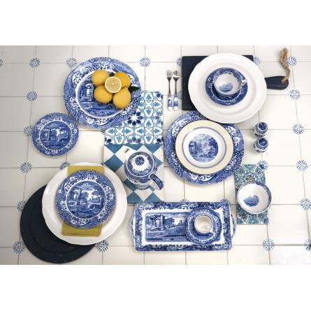 Blue Italian tallrik 23 cm
