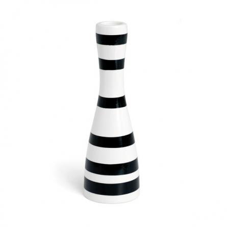 Omaggio candlestick 20cm, black
