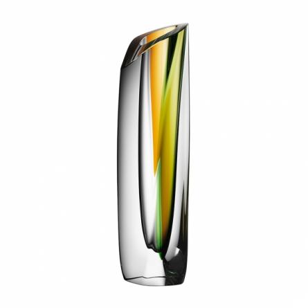 Saraband Vase Green/Amber H 43cm