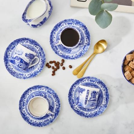 Blue Italian Espresso Cup 9cl