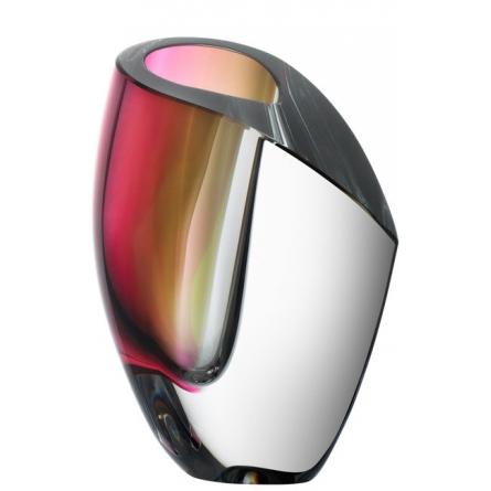 Mirage vas grå/röd Small, H 15,5cm